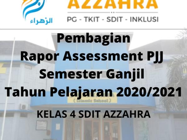 Rapor Assesment PJJ Semester Ganjil Tahun Pelajaran 2020/2021
